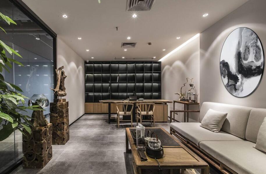 新中式办公室装修 用心设计完美办公环境
