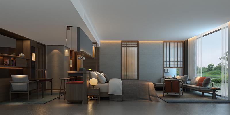 民宿酒店设计 客房设计效果图