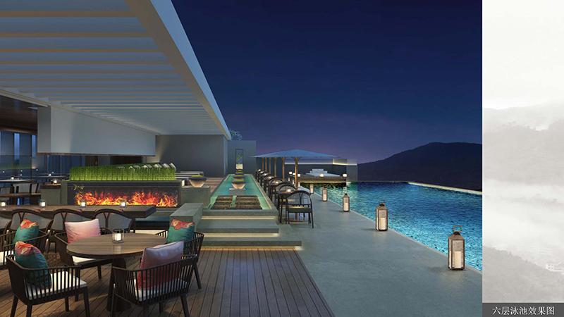 民宿酒店设计 泳池效果图