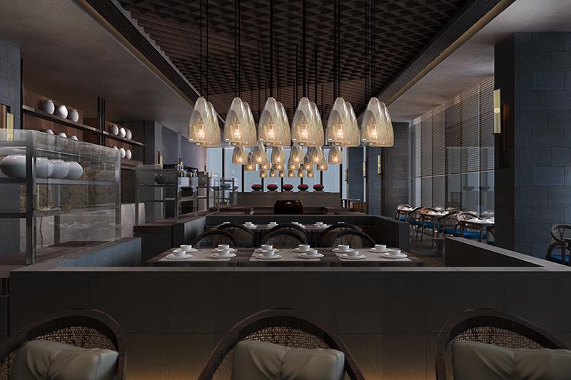 民宿酒店设计西餐厅效果图