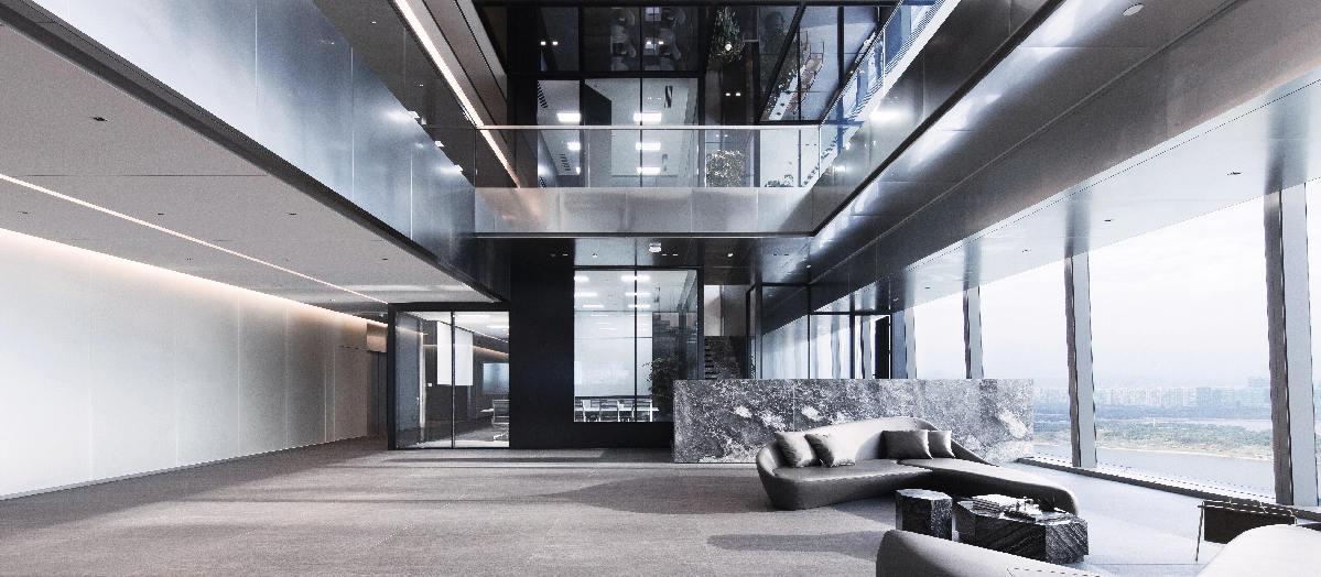 南宁五象新区总部办公室设计效果图