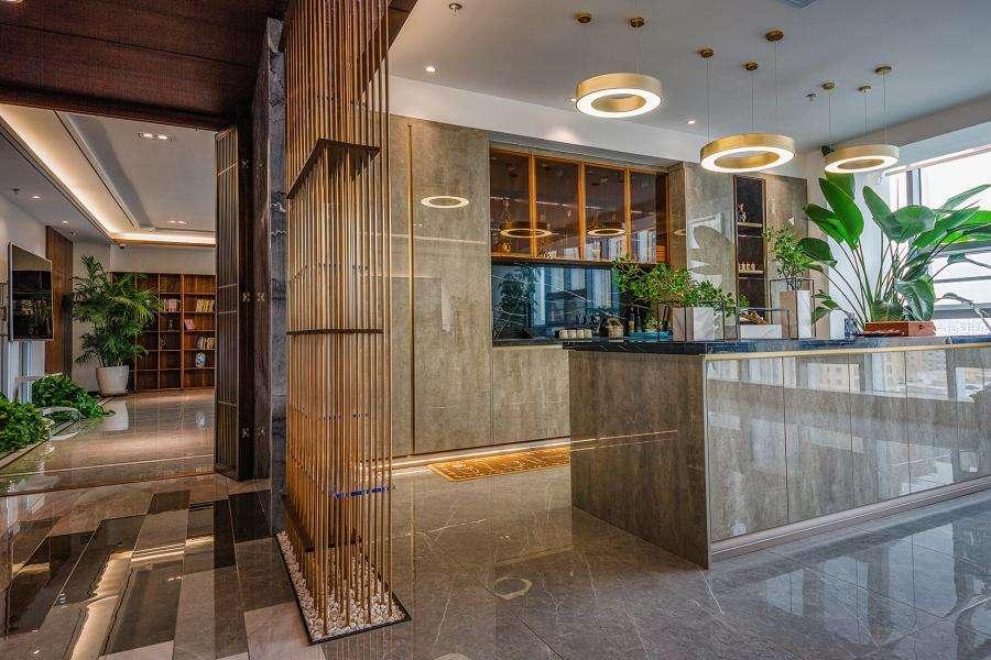 新中式办公室设计效果图