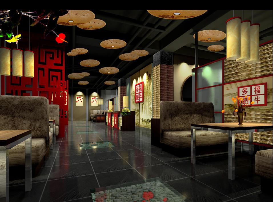 火锅店平面布置设计图