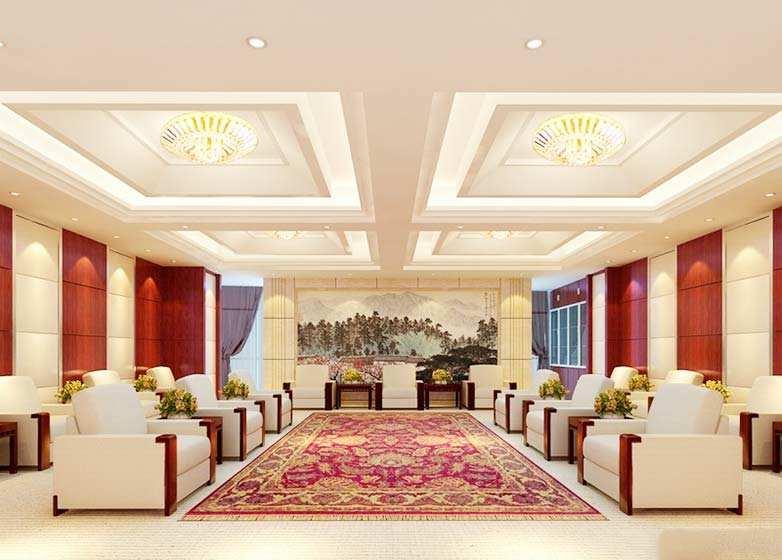 公司小型会议室装修效果图大全