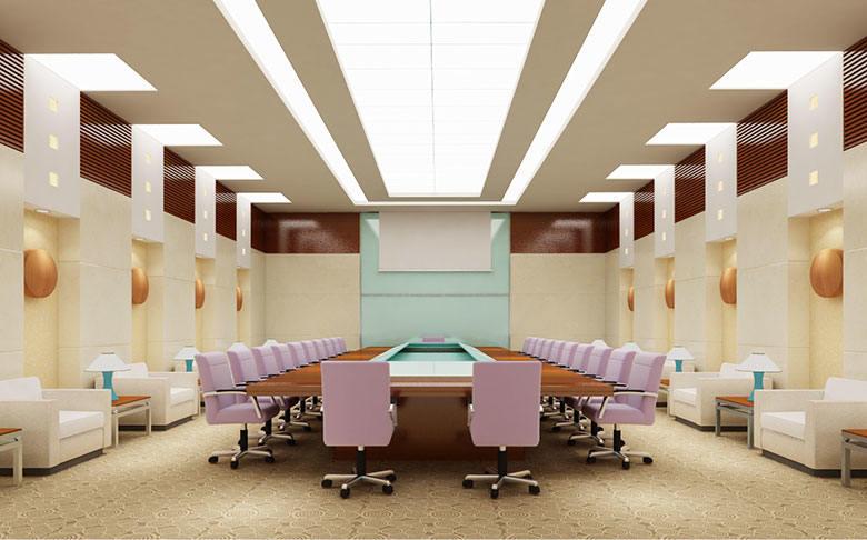 现代会议室室内效果图