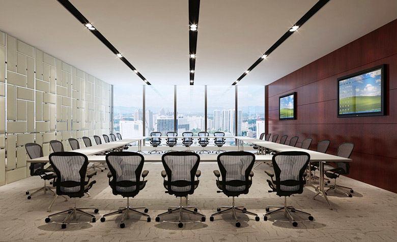 多媒体会议室效果图