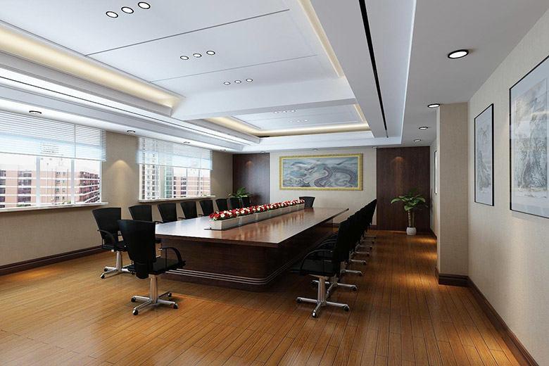 小型会议室办公室效果图
