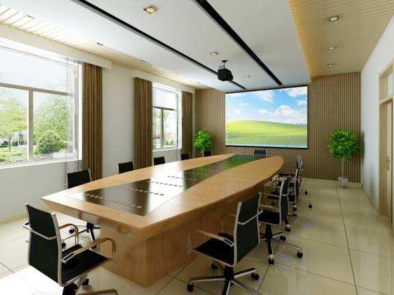 会议室背景墙装修效果图大全