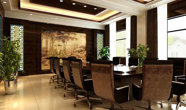 会议室形象墙效果图