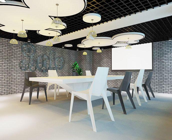 办公室会议室装修效果图大全