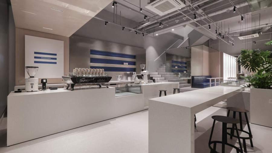 南宁连锁咖啡厅装修高清图片