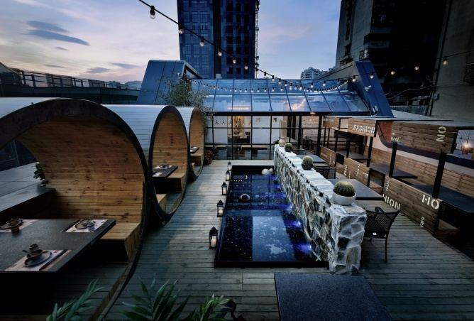 工业设计风格餐厅效果图