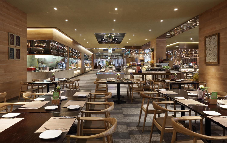 大型休闲自助餐厅装修效果图