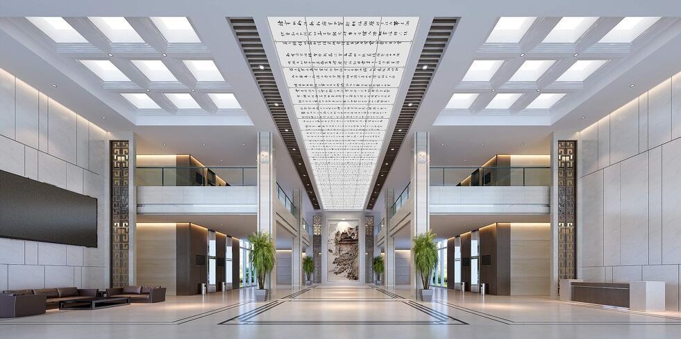 南宁办公楼设计老板办公室效果图
